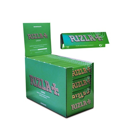 RIZLA GREEN REGULAR SIZE PAPERS - 100 PACK
