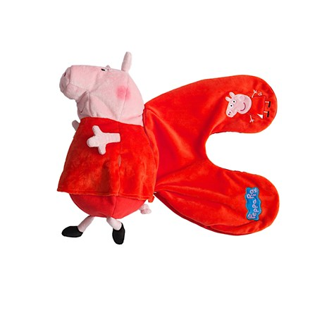 PEPPA REVERSIBLE PLUSH PILLOW (RED & RED)