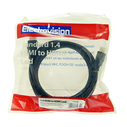 STANDARD 1.4V HDMI TO HDMI LEAD - 3M