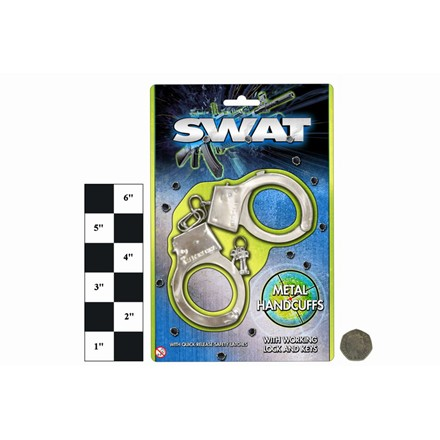 SWAT POLICE METAL HANDCUFFS