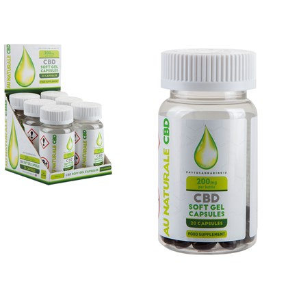 AU NATURALE CBD - 10MG CBD SOFT GEL CAPSULES -20PC