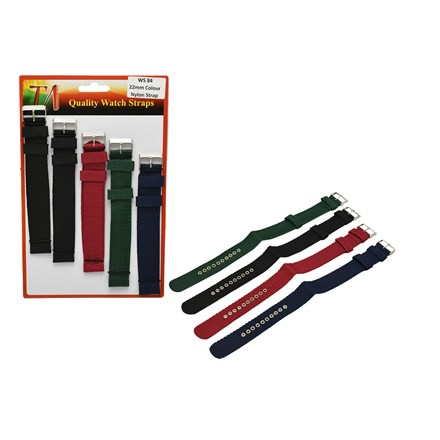 WATCH STRAPS 22MM COLOUR NYLON