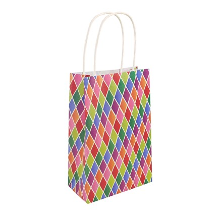 BAG HARLEQUIN WITH HANDLES - 24 PACK