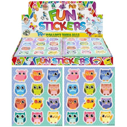 OWL STICKERS - 120 PACK