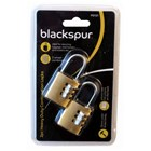 BLACKSPUR - 3 DIGIT COMBINATION LOCKS - 2 PACK
