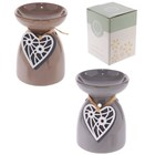 EDEN - CERAMIC OIL BURNER - WOODEN HEART