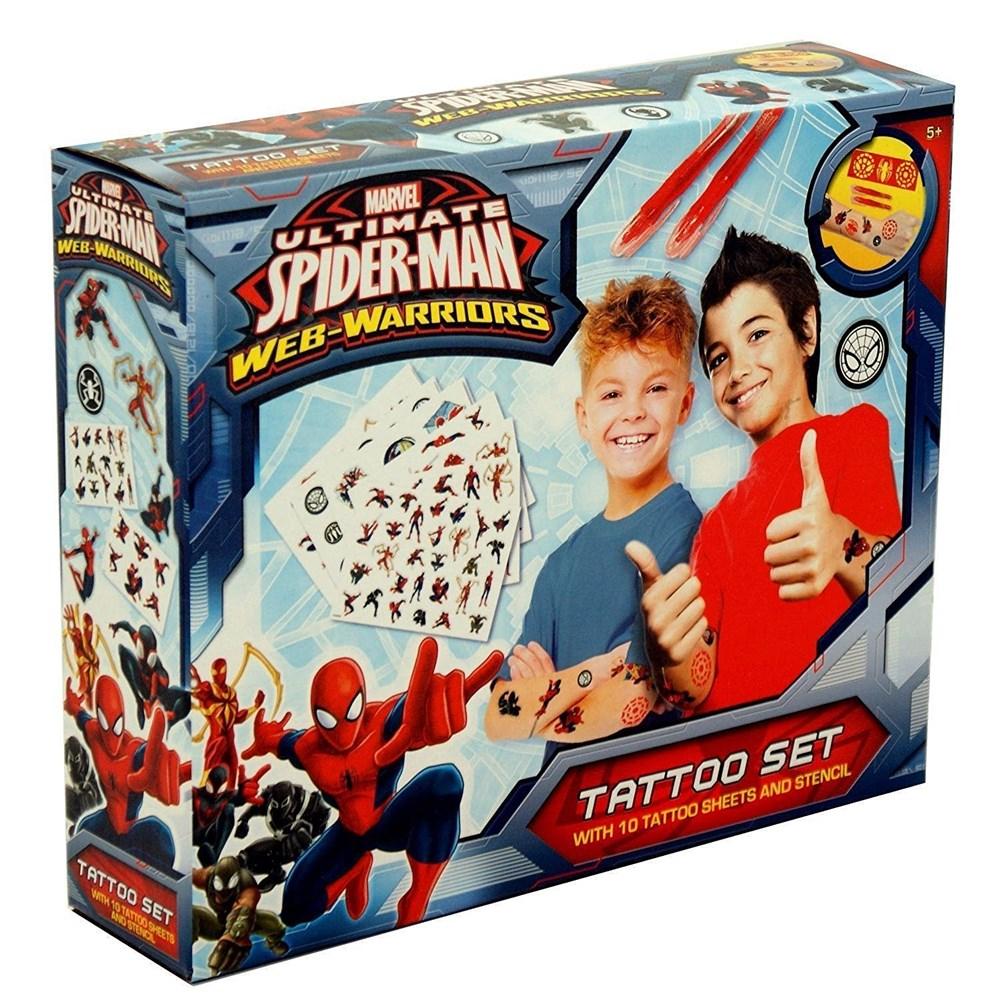 61523edb521b7 MARVEL SPIDER MAN TATTOO SET BOXED