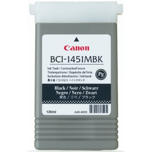 Canon 0175B001 (BCI-1451 MBK) Ink cartridge black matt, 130ml