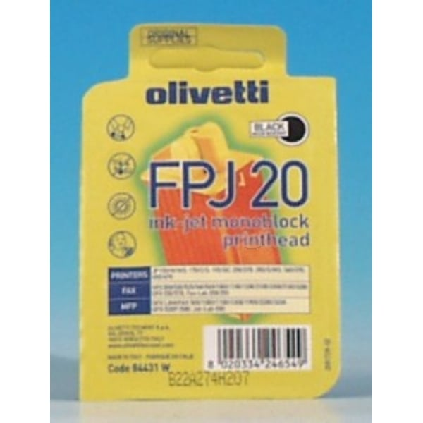 Olivetti B0384 (FPJ20) Printhead black, 360 pages, 24ml