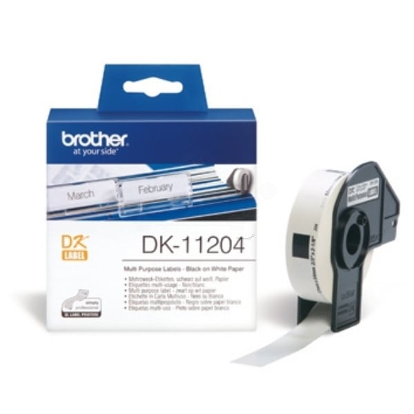 Brother DK-11204 P-Touch Etikettes, 17mm x 54mm, 400