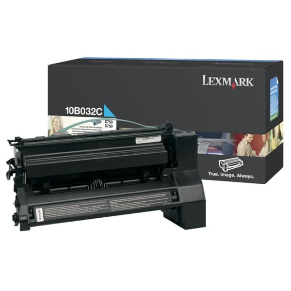 Lexmark 10B032C Toner cyan, 15K pages @ 5% coverage