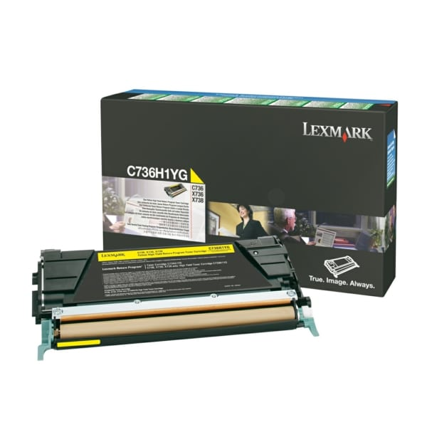 Lexmark C736H1YG Toner yellow, 10K pages