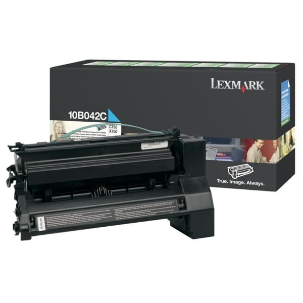 Lexmark 10B042C Toner cyan, 15K pages @ 5% coverage