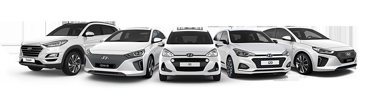 Hyundai Tucson, IONIQ el, i10, i20 och IONIQ hybrid