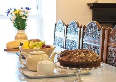 Enjoy afternoon tea at the lovely dining table