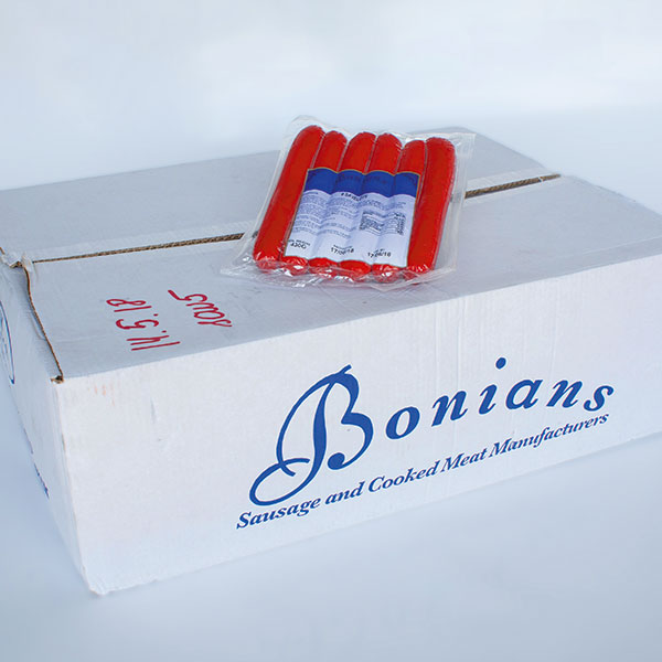 Image of Case of Bonians Saveloys 5