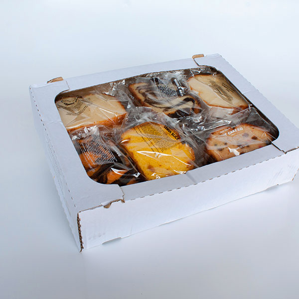 Box of wrapped assorted cake slices - mixed flavours 18