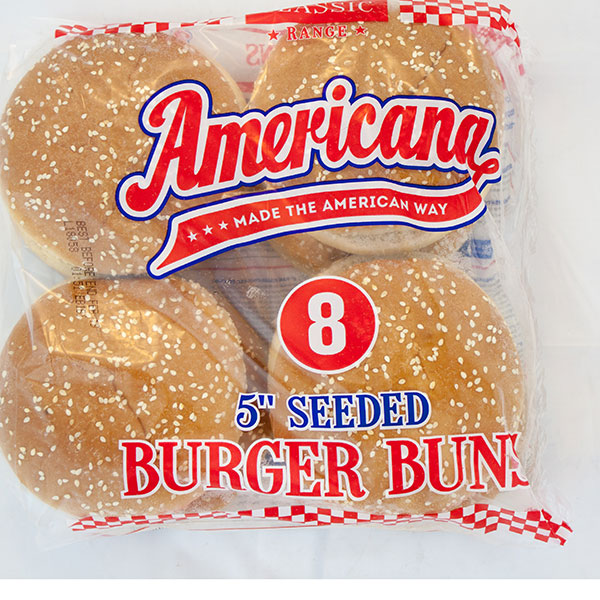 Seeded Burger Buns 5 inch x 48