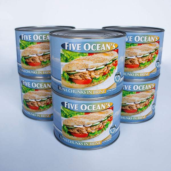 Tinned Tuna - 1.7 kg each - case of 6