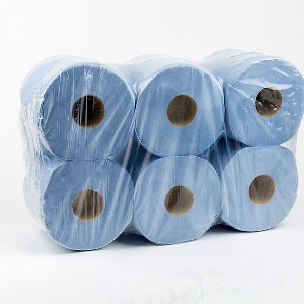 Blue Paper Roll 2 ply x 6