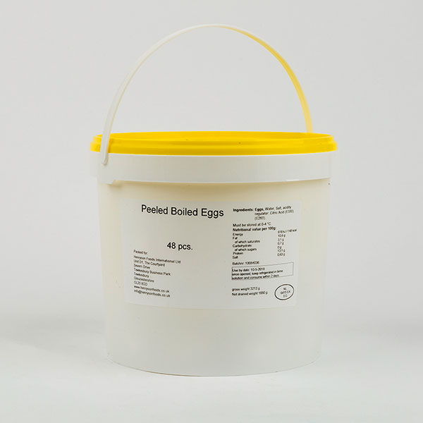 Buckets of Hard Boiled Eggs - 4 dozen