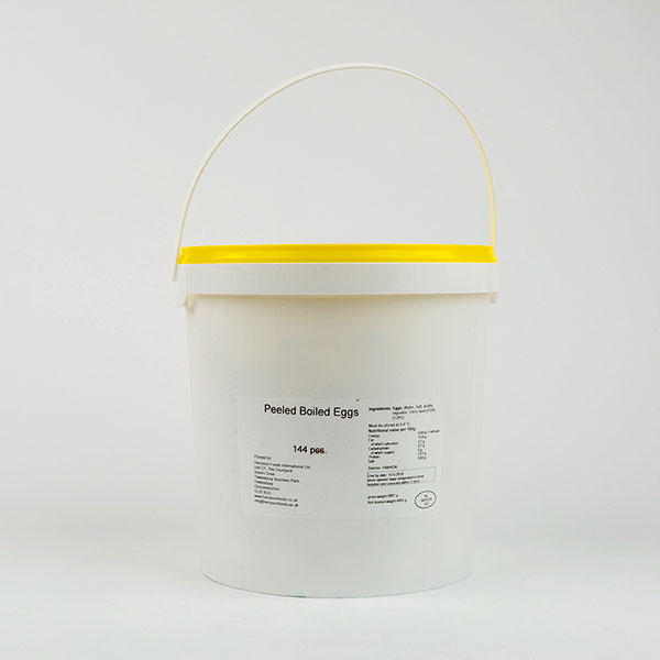 Buckets of Hard Boiled Eggs - 12 dozen