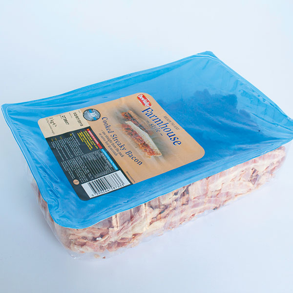 Farmhouse Cooked Streaky Bacon 1kg