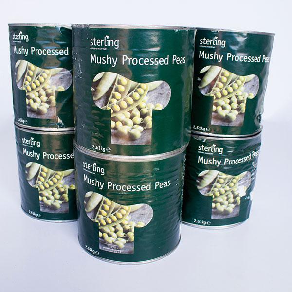 Tinned mushy peas - 2.65kg x 6