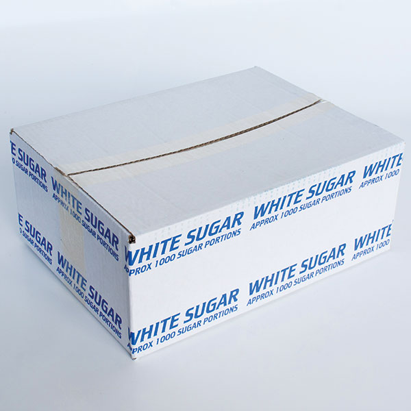 White sugar sachets x 1000