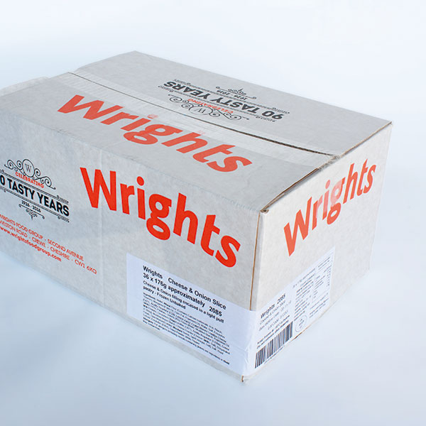 Image of Wrights Cheese Potato Onion Slice 36 x 185g