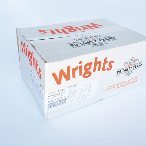 Image of Wrights Frozen Uncooked Sausage Rolls 6inch x 66