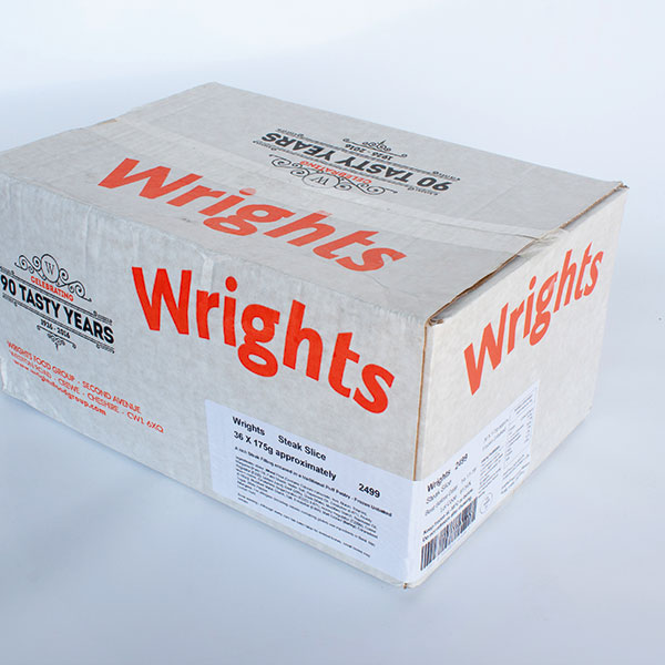 Image of Wrights Steak Slice PLAIN (36 in a box)