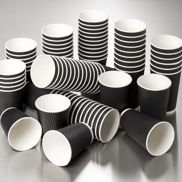 Image of 16oz Black Ripple Cups x 500