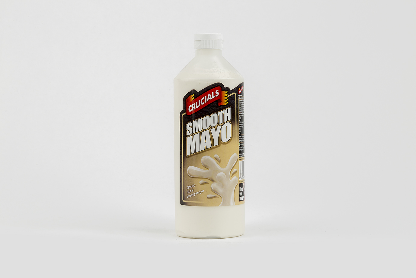 Image of Smooth Mayo 1 Ltr - Crucials - Squeezy Bottle