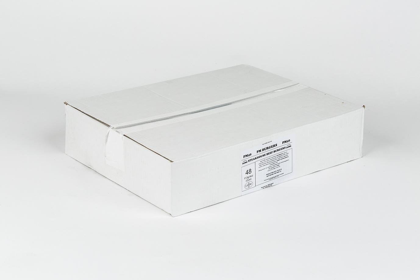 Image of Steakhouse 4oz Burger x 48 per box
