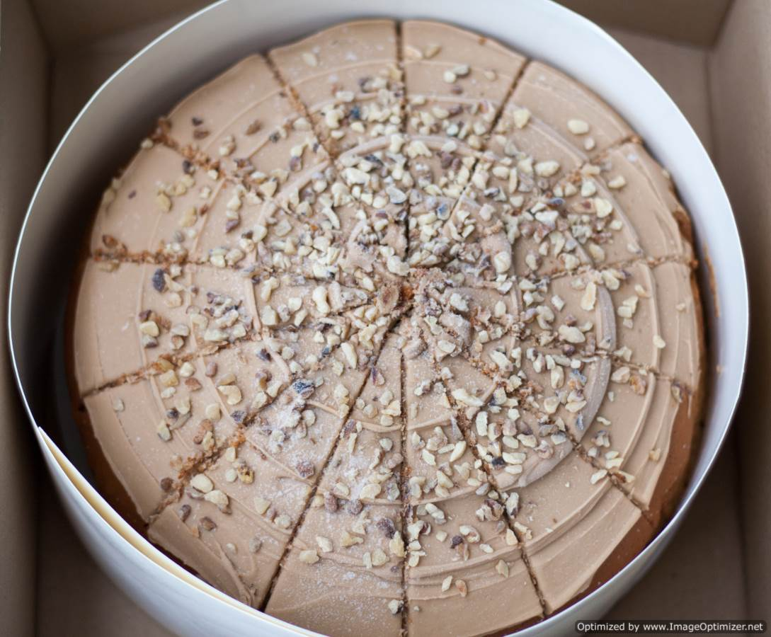 Coffee & Walnut Cake - pre-cut x 14