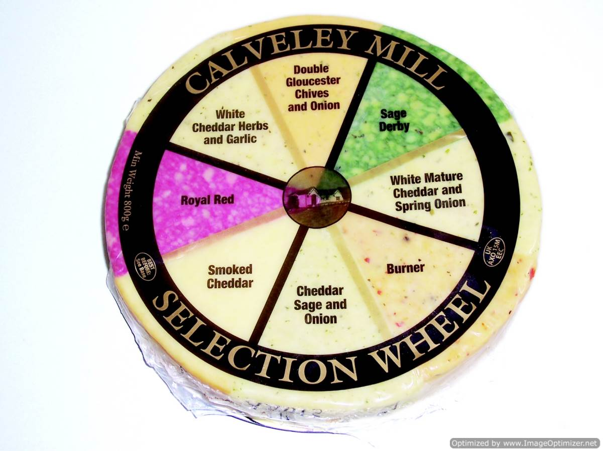 Image of Assorted Cheese Wheel 800g