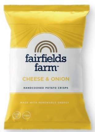 Fairfields Crisps Farmhouse Cheese & Onion Box 24