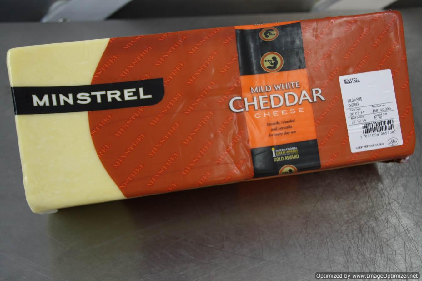 Image of Minstrel Mild Cheddar 5kg Block