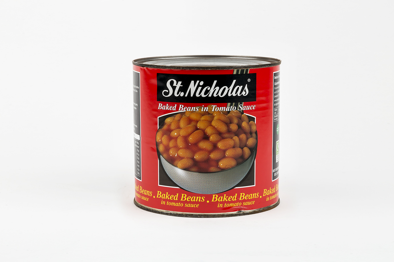 Image of Case of St. Nicholas Baked Beans Tins -  6 x 2.72kg
