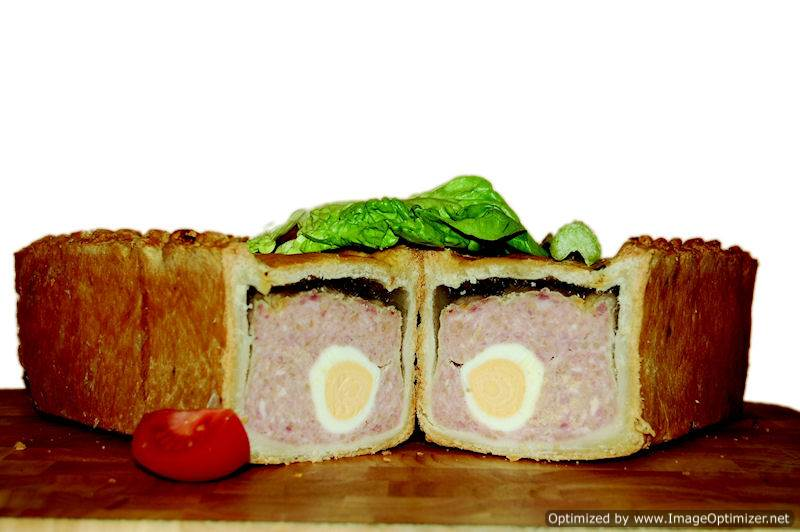 Image of Gala Pork Pie with egg