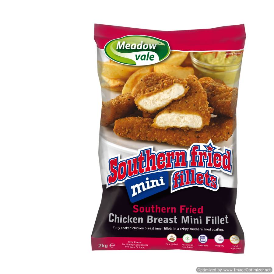 Southern Fried Mini Chicken Fillets 2kg Bag