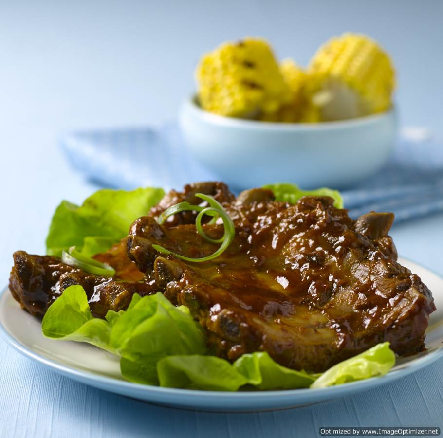 Image of 1/2 Pork Ribs in BBQ Sauce 12 x 200g