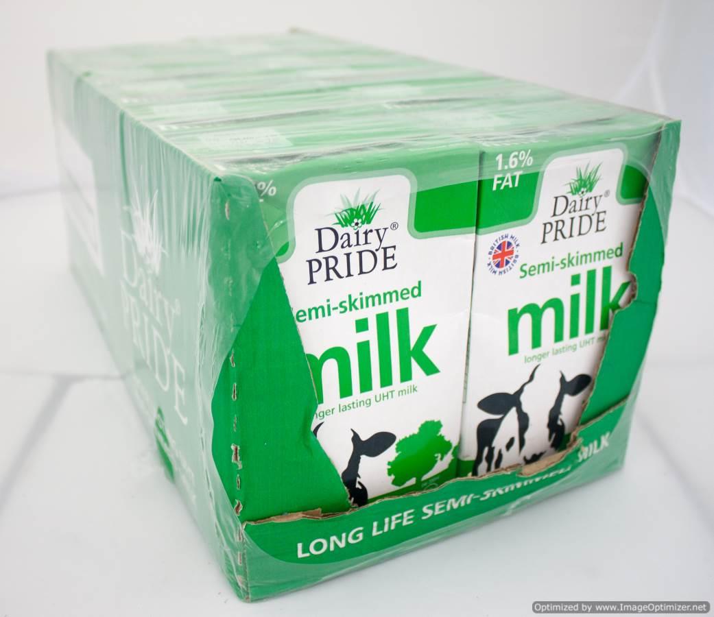 Image of Dairy Pride Semi Skimmed Milk 12 x 1 litre UHT