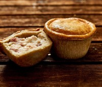 Gourmet Chicken & Ham Pie 6 x 8oz Wrapped