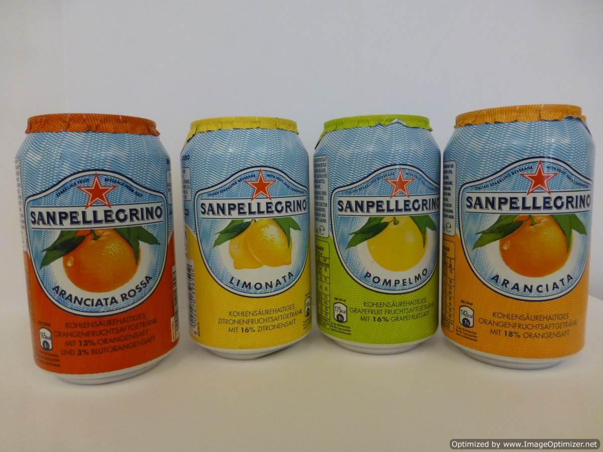 Image of San Pellegrino Blood Orange Cans 24 x 330ml