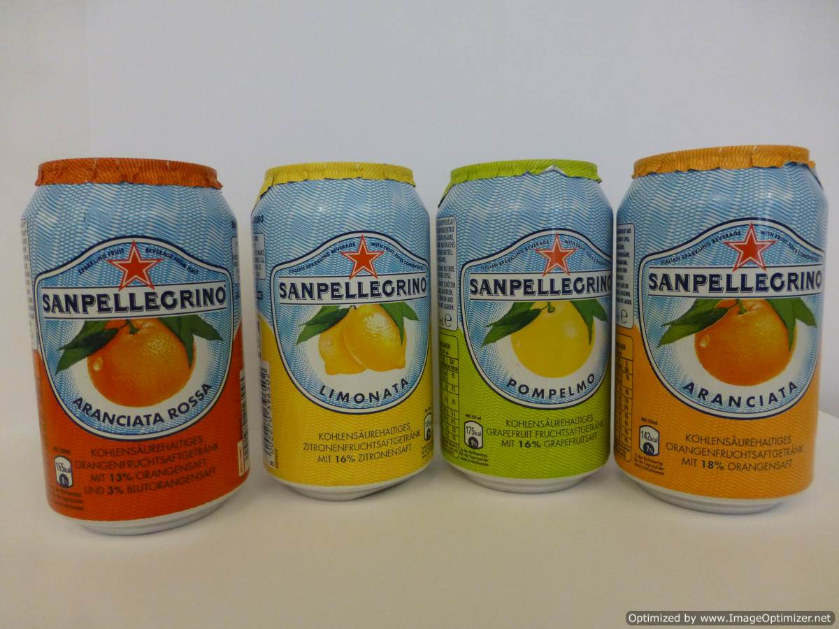 Image of San Pellegrino Orange Cans 24 x 330ml