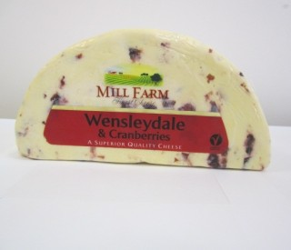 Image of Wenslydale & Cranberry cheese 1kg