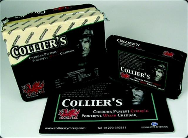 Image of Colliers Welsh Cheddar (350g) case of 12