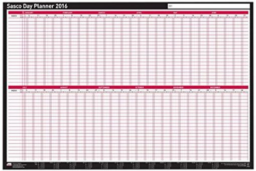 sasco board wall mount year planner academic staff calendar 2016
